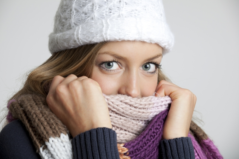 Woman Cold Scarf Sweater