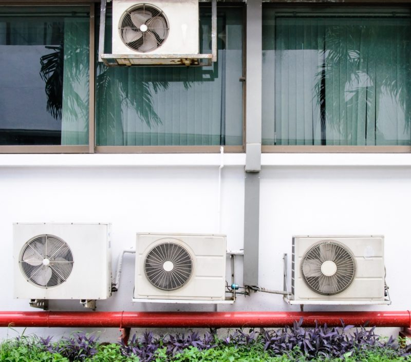 Air Conditioning Machines AC Outside