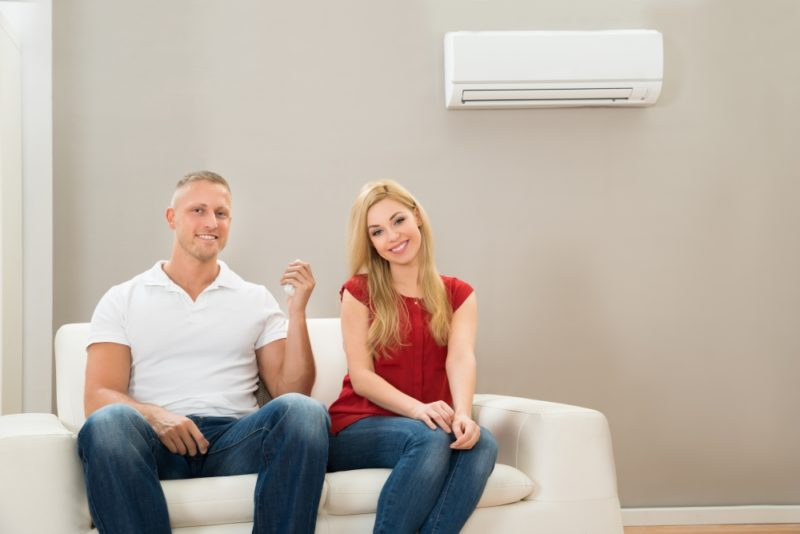 Couple Couch Ductless AC