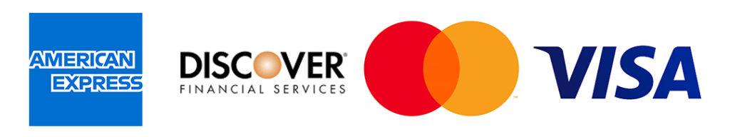 Credit card company logos