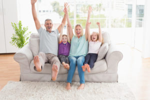 Family Excited Couch