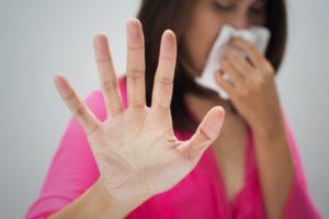 Woman Hand Asthma napkin