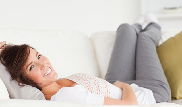 Woman Smile Couch